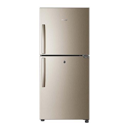 haier regular glass series refrigerator golden