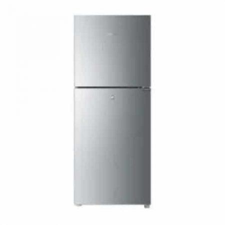 haier regular glass series refrigerator silver